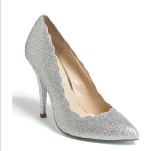 Silver Betsey Johnson Blue pumps